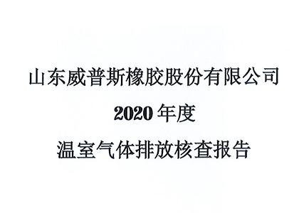 2020年度温室气体排放核查报告